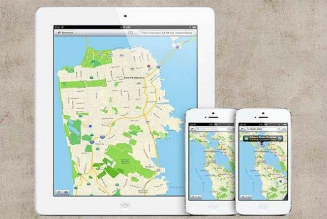 App Mapas da Apple
